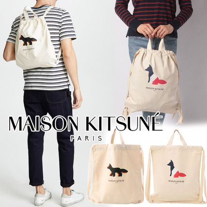 Casual Style Unisex Canvas 2WAY Other Animal Patterns Purses