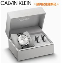Calvin Klein Plain Leather Watches & Jewelry