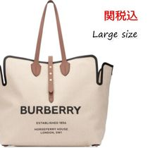 Burberry Canvas A4 Totes