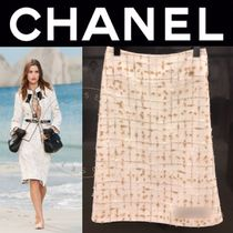 CHANEL ICON Other Check Patterns Tweed Street Style Medium Handmade