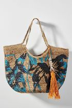 Anthropologie Collaboration Plain Straw Bags