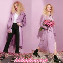 ELF SACK Casual Style Plain Long Oversized Trench Coats