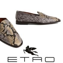 ETRO Loafers Leather Python Loafers & Slip-ons