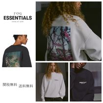 FEAR OF GOD ESSENTIALS Crew Neck Unisex Sweat Street Style Oversized Sweatshirts