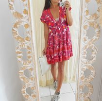 room IVY Flower Patterns Beach Cover-Ups