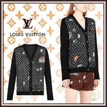 Louis Vuitton MONOGRAM Cable Knit Monogram Wool Collaboration Long Sleeves