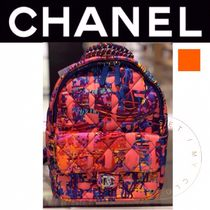 CHANEL SPORTS Tropical Patterns Casual Style Nylon Street Style A4