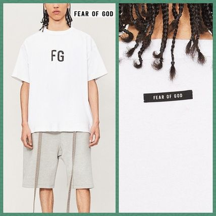 FEAR OF GOD More T-Shirts Pullovers Street Style Cotton Short Sleeves T-Shirts