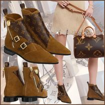 5a5d81fc9726 Louis Vuitton MONOGRAM Monogram Rubber Sole Blended Fabrics Bi-color Leather
