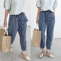 Casual Style Denim Street Style Plain Long Home Party Ideas