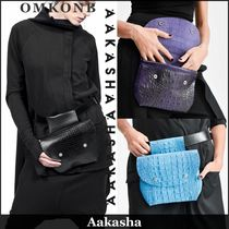 Aakasha Casual Style Plain Leather Shoulder Bags
