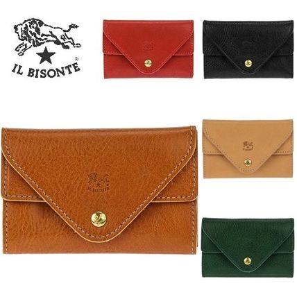Unisex Plain Leather Card Holders