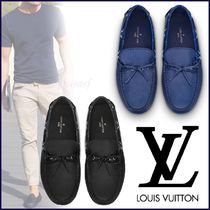 Louis Vuitton Monogram Plain Toe Moccasin Blended Fabrics Street Style