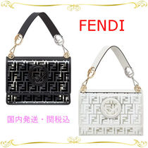 FENDI KAN I Crystal Clear Bags PVC Clothing Elegant Style Shoulder Bags