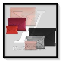 Louis Vuitton Plain Leather Pouches & Cosmetic Bags