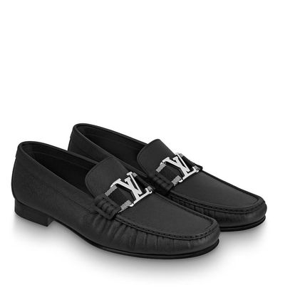 Louis Vuitton Loafers & Slip-ons Plain Toe Moccasin Blended Fabrics Plain Leather 4