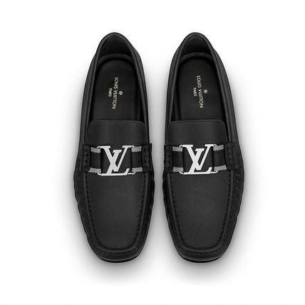 Louis Vuitton Loafers & Slip-ons Plain Toe Moccasin Blended Fabrics Plain Leather 5