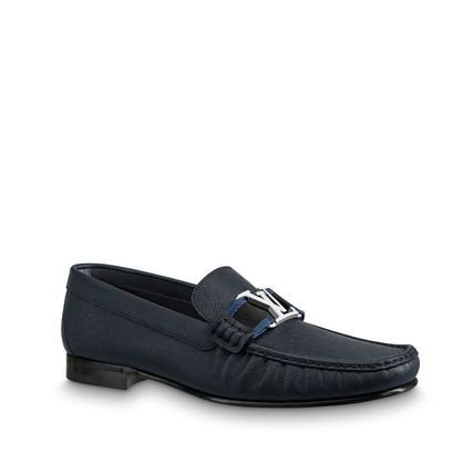 Louis Vuitton Loafers & Slip-ons Plain Toe Moccasin Blended Fabrics Plain Leather 6