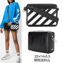 Off-White BINDER CLIP Street Style 2WAY Leather Shoulder Bags