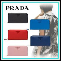 PRADA Blended Fabrics Home Party Ideas Long Wallets