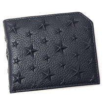 Jimmy Choo Star Unisex Bi-color Leather Folding Wallets