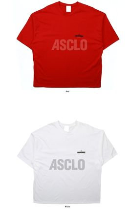 ASCLO More T-Shirts Unisex Street Style Collaboration Plain Cotton Short Sleeves 15