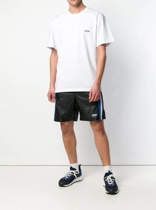 MSGM Crew Neck Crew Neck Plain Cotton Short Sleeves Crew Neck T-Shirts 6