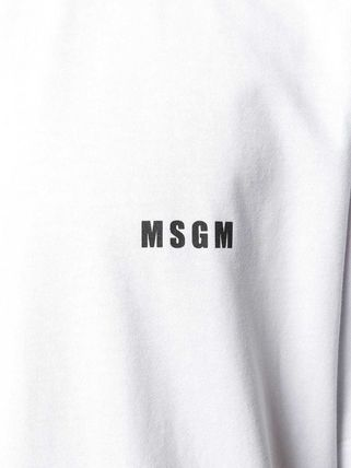 MSGM Crew Neck Crew Neck Plain Cotton Short Sleeves Crew Neck T-Shirts 8