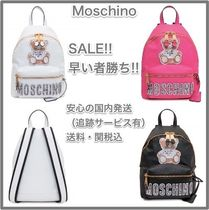 Moschino Casual Style A4 2WAY Other Animal Patterns Backpacks