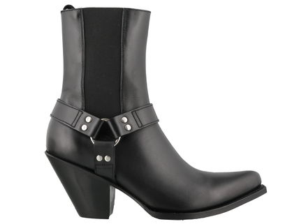 CELINE High Heel Square Toe Leather High Heel Boots 2