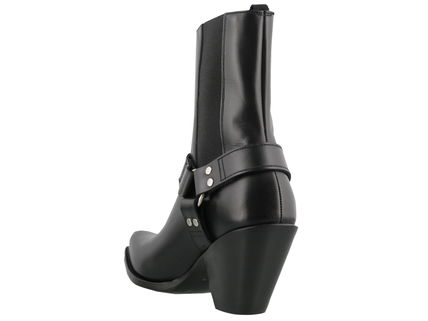 CELINE High Heel Square Toe Leather High Heel Boots 5