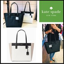kate spade new york Saffiano A4 Plain Office Style Totes