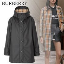 Burberry Short Other Check Patterns Casual Style Unisex Street Style