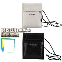 BALENCIAGA Plain Leather Wallets & Small Goods