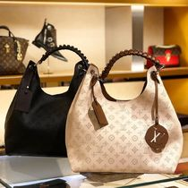 Louis Vuitton MAHINA Monogram Blended Fabrics 2WAY Bi-color Leather Elegant Style