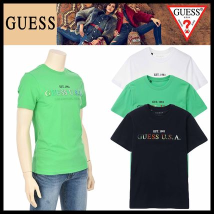 Guess More T-Shirts Street Style Short Sleeves T-Shirts