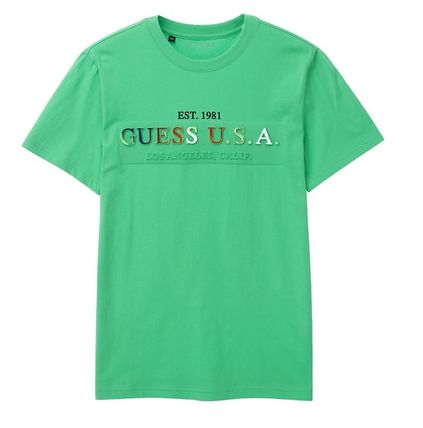 Guess More T-Shirts Street Style Short Sleeves T-Shirts 7