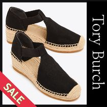 Tory Burch Open Toe Casual Style Plain Heeled Sandals