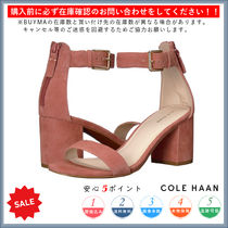 Cole Haan Open Toe Casual Style Plain Chunky Heels