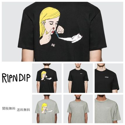 RIPNDIP More T-Shirts Unisex Street Style Short Sleeves T-Shirts