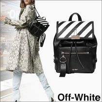 Off-White Stripes Leather Shoulder Bags