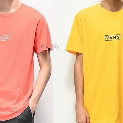 VANS Crew Neck Crew Neck Street Style Cotton Short Sleeves