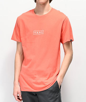 VANS Crew Neck Crew Neck Street Style Cotton Short Sleeves 2