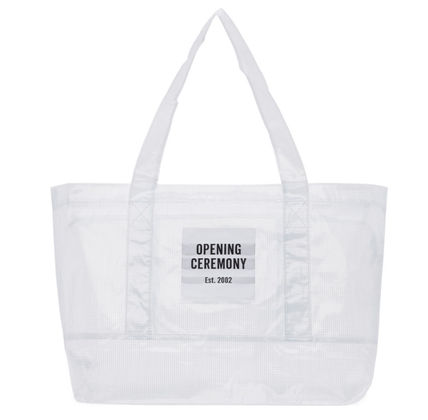 Casual Style Unisex Street Style A4 Plain PVC Clothing Totes