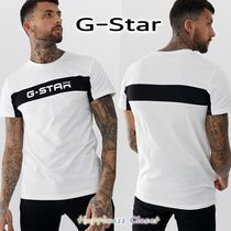 G-Star Crew Neck Pullovers Cotton Short Sleeves Crew Neck T-Shirts