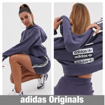 adidas Short Casual Style Tight Street Style Long Sleeves Plain