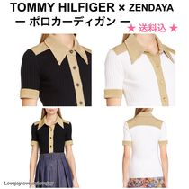 Tommy Hilfiger Casual Style Collaboration Bi-color Short Sleeves