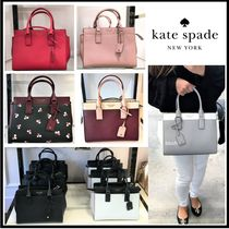 kate spade new york Saffiano 2WAY Bi-color Plain Totes