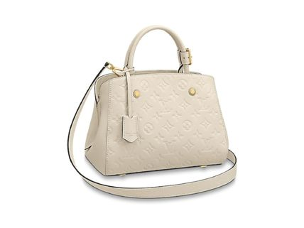 Louis Vuitton Handbags Calfskin 2WAY Plain Elegant Style Handbags 5