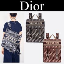 Christian Dior Monogram Casual Style Canvas Street Style 2WAY Backpacks